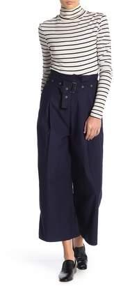 J Brand Via Pleat Front Wide Leg Pants