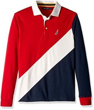 b0179f0f Nautica Men's Heritage Logo Long Sleeve Polo Shirt