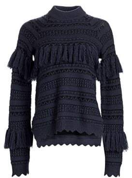 Jonathan Simkhai Wool Tassel Sweater