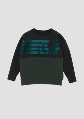 Emporio Armani Crew Neck Sweatshirt With The Eagle Brand Print