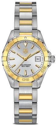 Tag Heuer Aquaracer 300M Quartz Stainless Steel and 18K Yellow Gold Watch, 27mm