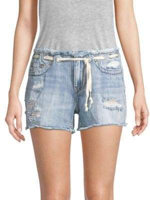 True Religion Mid-Rise Cut-Off Denim Shorts