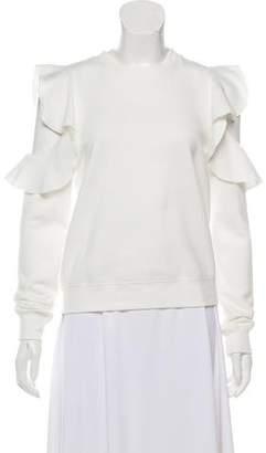Rebecca Minkoff Cold-Shoulder Ruffle Sweatshirt