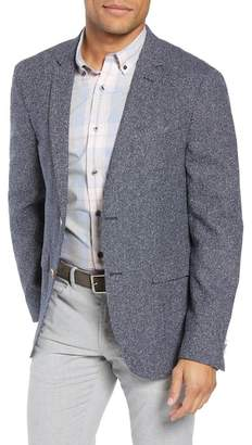 Sand Trim Fit Silk Blend Blazer