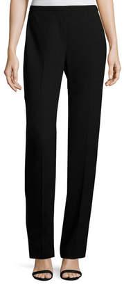 Elie Tahari Stella Straight-Leg Stretch-Knit Pants, Black