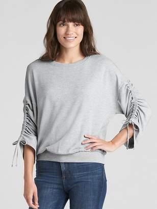 Gap Pullover Cinched Sleeve Sweatshirt