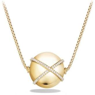 David Yurman Solari Pendant Necklace With Diamonds In 18K Gold, 23Mm