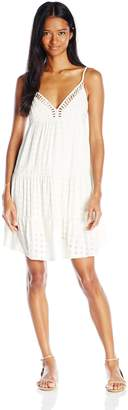 Angie Junior's Tiered Lattice Cut Sun Dress