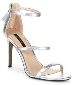 Ava & Aiden Leather Stiletto Heel Sandals