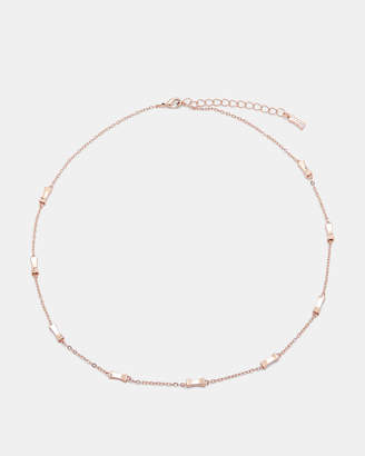 Ted Baker FAYE Mini faceted bow necklace
