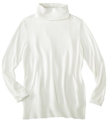 Ultrasoft Mossimo® Womens Plus-Size Long-Sleeve Turtleneck Sweater - Assorted Colors
