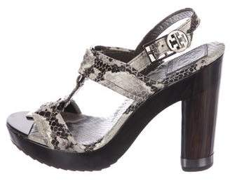 Tory Burch Karmen Embossed Sandals