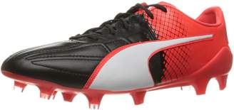Puma Men's EVOspeed 1.5 LTH FG Soccer Cleats, Black White