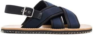 Marni crossover Fussbett sandals