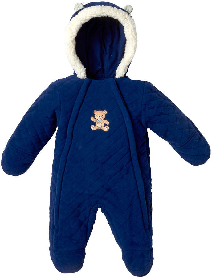 Navy Quilted Bear Bunting - Infant
