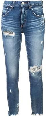 Moussy Vintage distressed skinny jeans