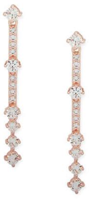 Anne Klein Rose Goldtone Crystal Linear Earrings