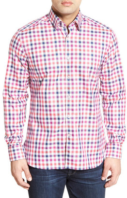 Stone Rose Trim Fit Check Twill Sport Shirt (Big & Tall) $195 thestylecure.com