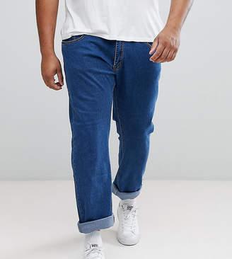 N. Liquor Poker PLUS Mid Blue Abrasions Ankle Grazer Slim Jeans