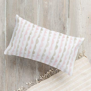 Scalloped Ruffles Lumbar Pillow