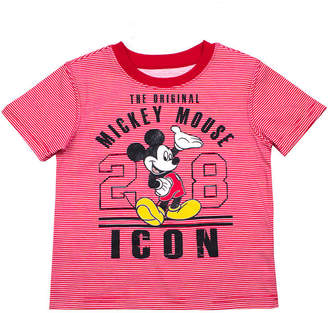 DISNEY MICKEY MOUSE Disney Boys Crew Neck Short Sleeve Mickey Mouse T-Shirt-Toddler