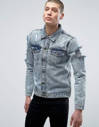 Brave Soul Distressed Denim Jacket