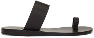 Ancient Greek Sandals Black Thraki Sandals
