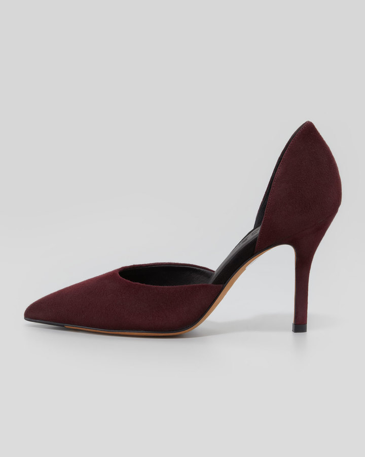 Vince Celeste d'Orsay Pointed-Toe Pump, Pomegranate