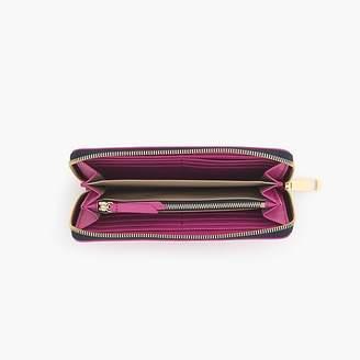 J.Crew Harper continental wallet in Italian leather