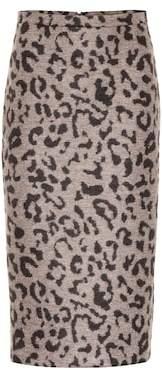 Max Mara Thomas leopard-print wool skirt
