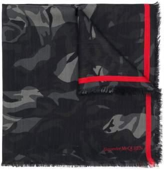 Alexander McQueen camouflage rose scarf