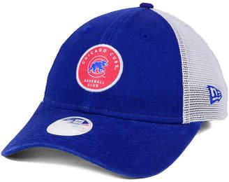 New Era Women's Chicago Cubs Washed Trucker 9TWENTY Cap