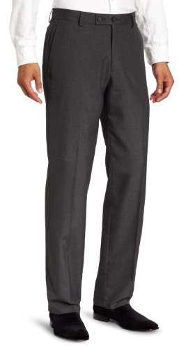 Kenneth Cole Reaction Men's Gabardine Modern Fit Flat Front Dress Pant