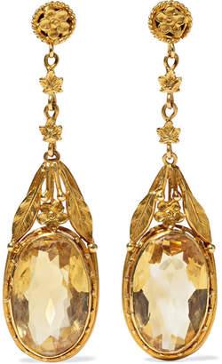 Fred Leighton - 1880s 18-karat Gold Citrine Earrings