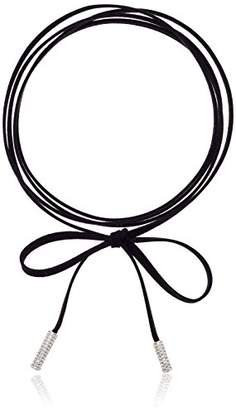 ABS by Allen Schwartz Suede Wrap Choker Necklace
