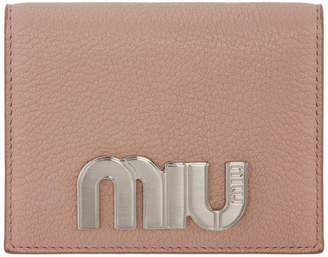 Miu Miu (ミュウミュウ) - Miu Miu ピンク ラージ フォールドオーバー ウォレット