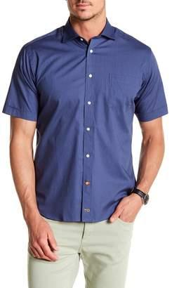 Thomas Dean Dotted Short Sleeve Shirt
