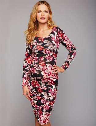 A Pea in the Pod Side Ruched Maternity Dress