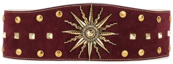 Fausto Puglisi sundial studded belt