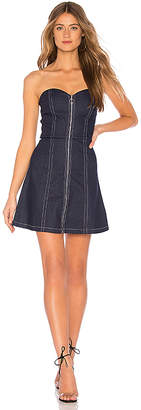by the way. Heidie Zip Up Strapless Dress.