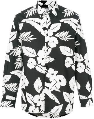 MSGM floral foliage print shirt
