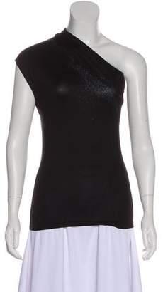 Narciso Rodriguez Metallic One-Shoulder Top