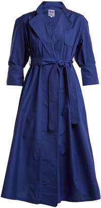 Thierry Colson Sacha tie-waist cotton-poplin coat