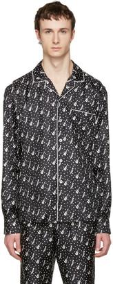 Dolce & Gabbana Black Silk Music Pajama Shirt $1,195 thestylecure.com