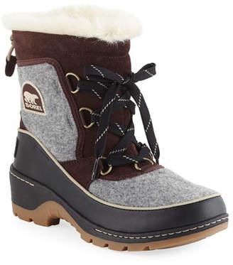 Sorel Tivoli III Waterproof Lace-Up Winter Boots with Faux Fur