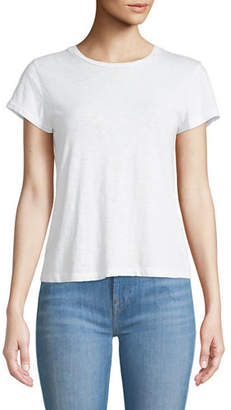 7 For All Mankind Crewneck Short-Sleeve Slub Cotton Basic Tee