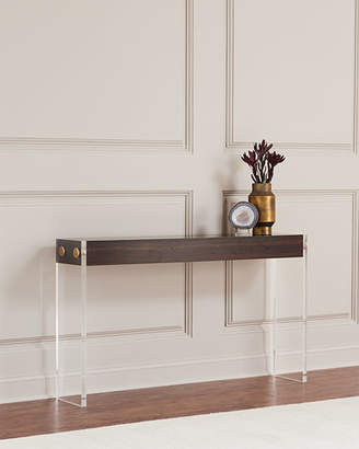 John-Richard Collection Aristar Acrylic and Wood Console Table