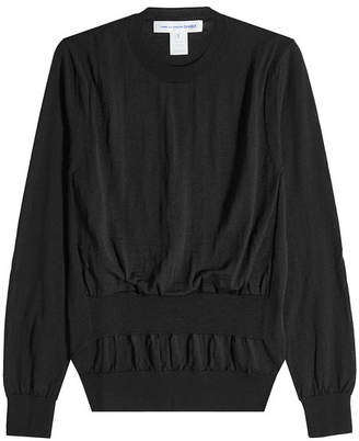 Comme des Garcons Wool Pullover with Gathered Waist