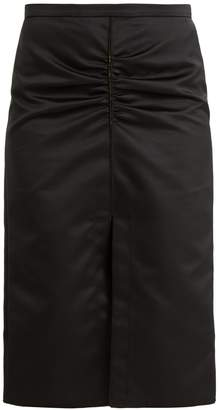 No.21 NO. 21 Ruched duchesse-satin midi skirt