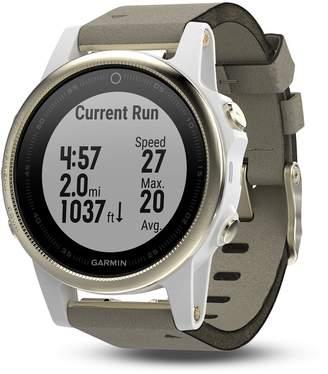 Garmin fenix 5S Sapphire Premium Multisport GPS Smartwatch with Gray Suede Band